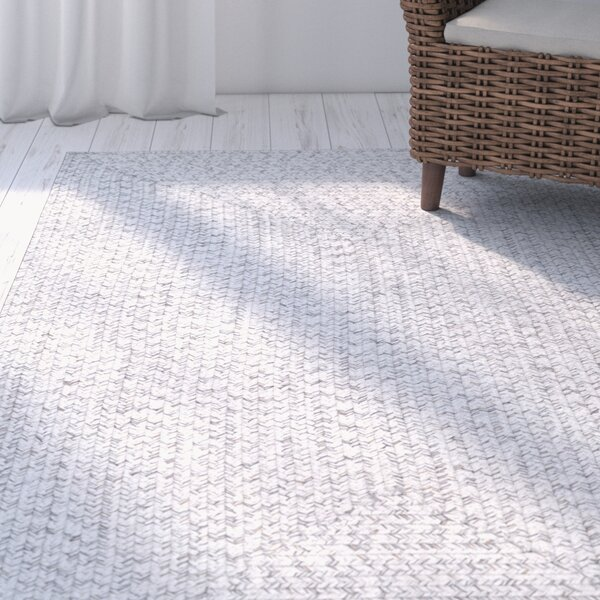 Moser Hand Braided Ivory Indoor/Outdoor Area Rug by Wade Logan