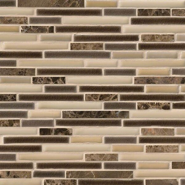 Verona Interlocking Pattern Random Sized Porcelain/Stone Tile in Beige by MSI
