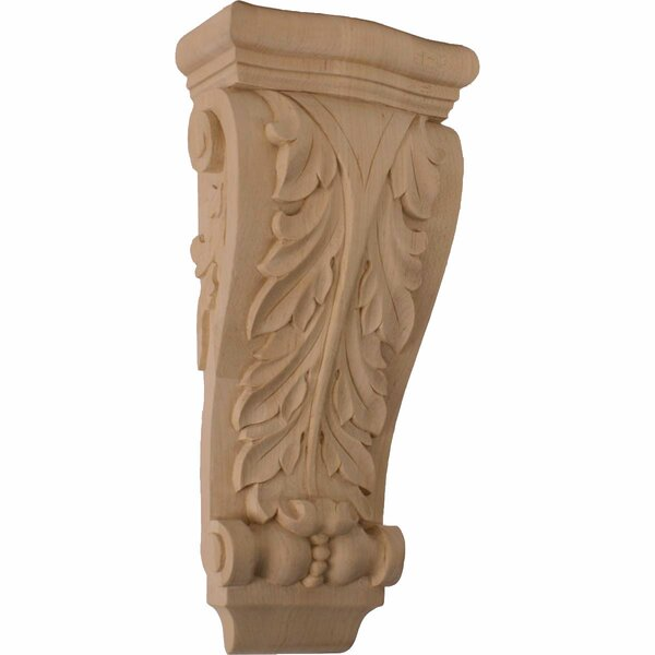 Farmingdale Acanthus 13 1/2H x 6 1/4W x 3 1/8D Medium Pilaster Corbel in Hard Maple by Ekena Millwork