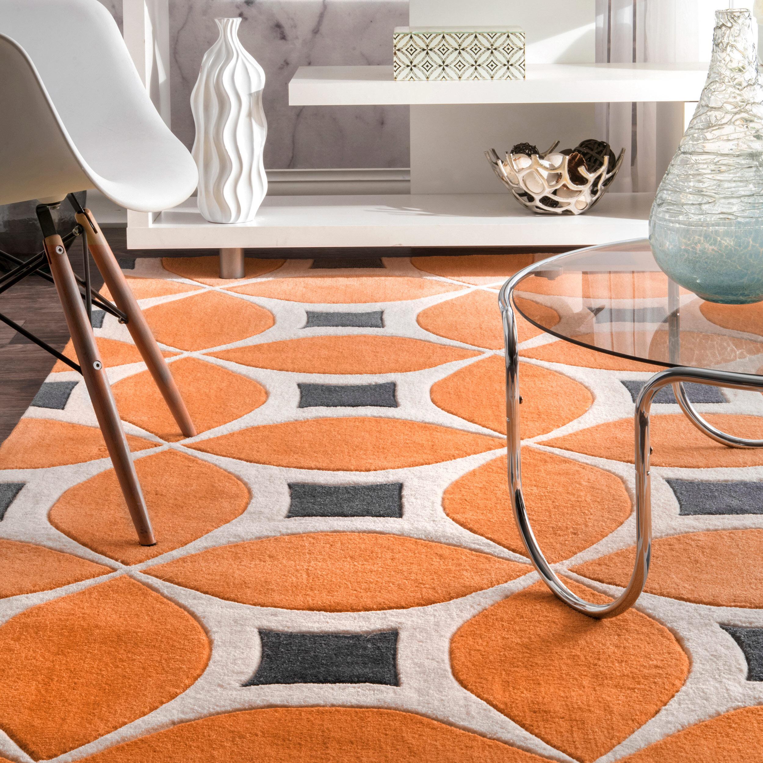 Sorrento Power Loom Orange Rug Reviews Allmodern