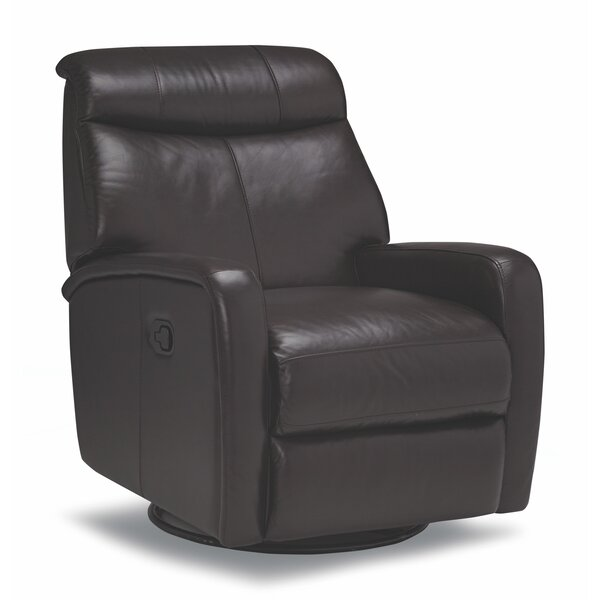 Mcmath Leather Manual Swivel Recliner [Red Barrel Studio]