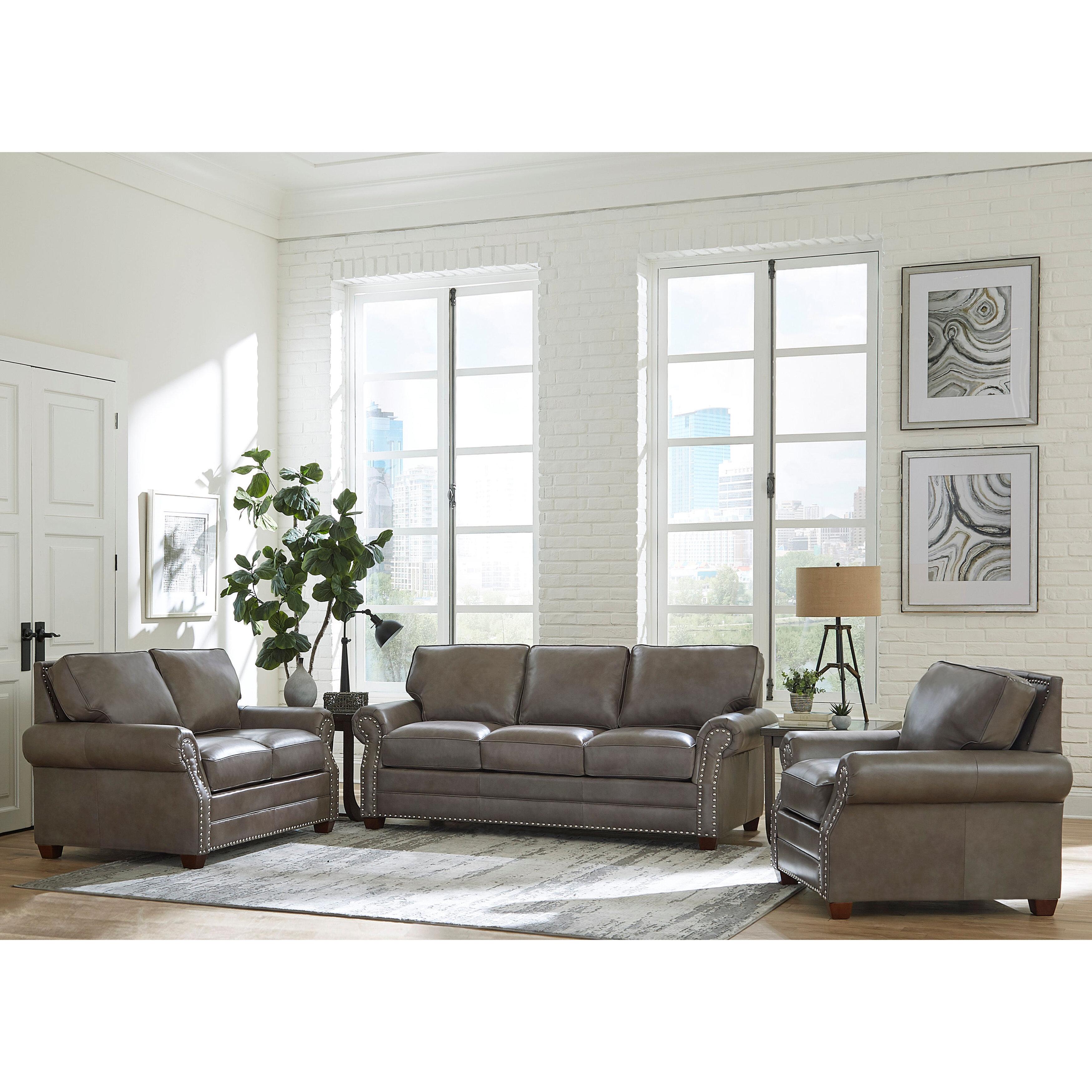 Pedigo 5 Piece Leather Living Room Set