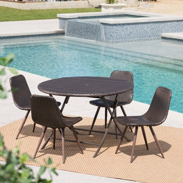 Binns Outdoor Wicker 5 Piece Dining Set By Ivy Bronx