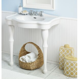 Winsor Vitreous China 32 Console Bathroom Sink With Overflow