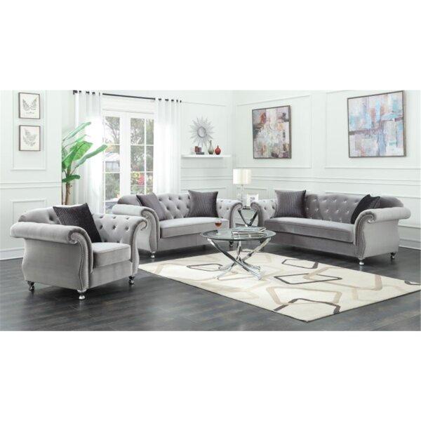 Drury 3 Piece Living Room Set by Rosdorf Park
