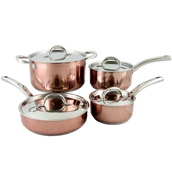 8 Piece Brookfield Stainless Steel Cookware Set by