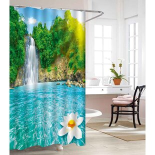 Waterfall Heavy Weight Waterproof Vinyl Shower Curtain