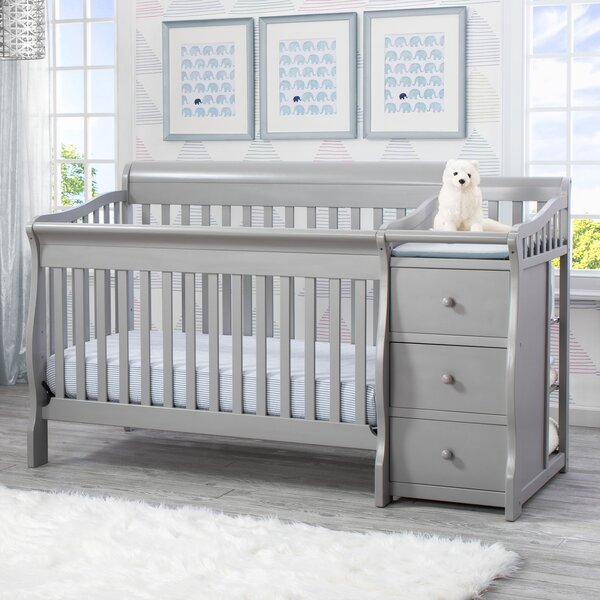 Princeton Junction 4-in-1 Convertible Crib and Changer Combo by Delta Children