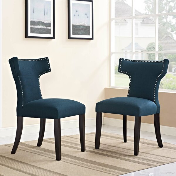 Curve Upholstered Dining Chair (Set of 2) by Modway