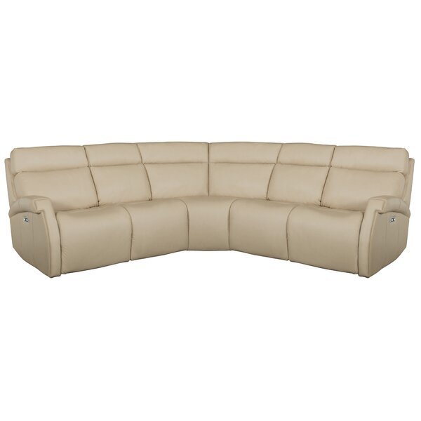 Best #1 Maddux Leather Reclining Sectional By Bernhardt Today Only Sale