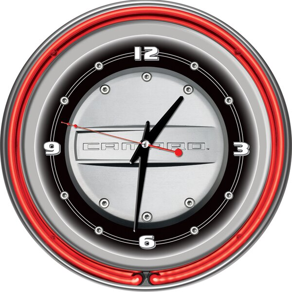 14 Camaro Double Ring Wall Clock by Trademark Global