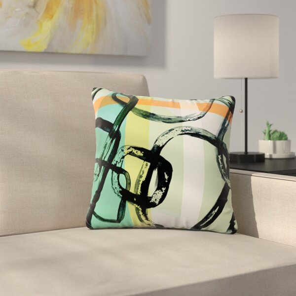 Sixties Stripe by Theresa Giolzetti Outdoor Throw Pillow by East Urban Home