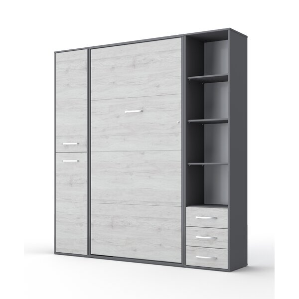 Beeman Vertical Twin Murphy Bed with Mattress by Orren Ellis