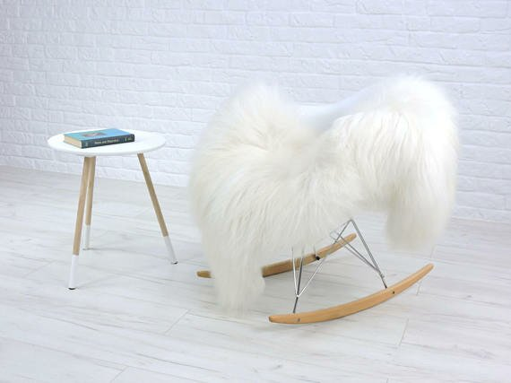 Alrik Mongolian Curly Icelandic Sheepskin White Area Rug by Trent Austin Design
