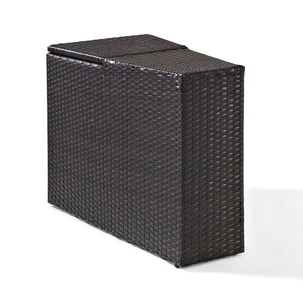 Michal Wicker/Rattan Side Table by Highland Dunes