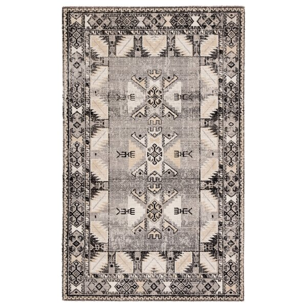 Bewdley Tribal Gray/Beige Indoor/Outdoor Area Rug by World Menagerie