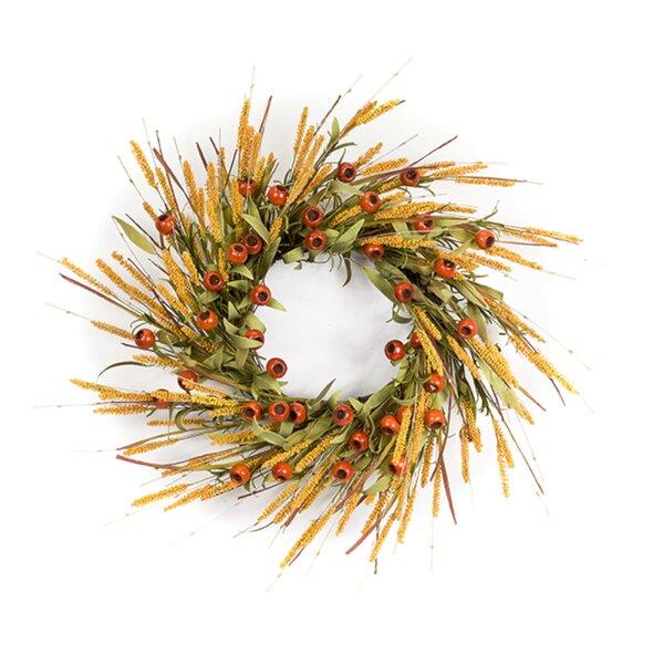 Eucaluptus Pod/Foxtail 30 Foam Wreath by Gracie Oaks