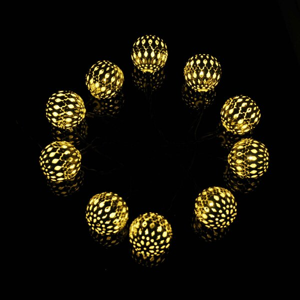 Modern Home 12-Light 13 ft. Globe String Lights by Vandue Corporation