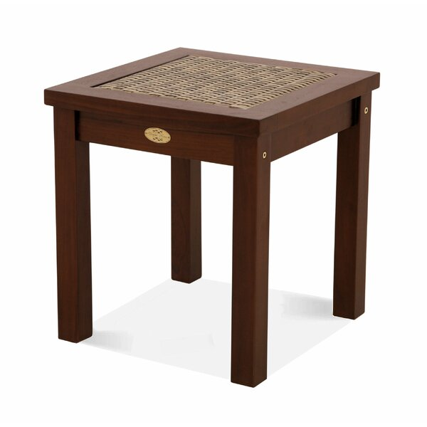 Nicole Wicker/Rattan Side Table by Bay Isle Home