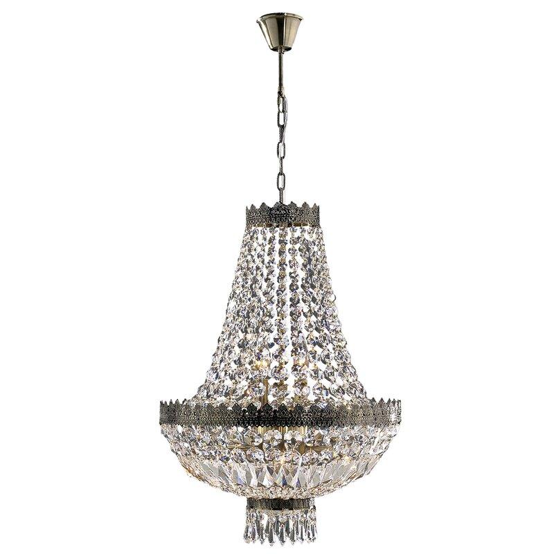 Brimstone 1 tier 6 light crystal chandelier