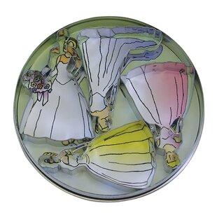 4 Piece Bride Cookie Cutter Set In Tin ByR & M International Corp.