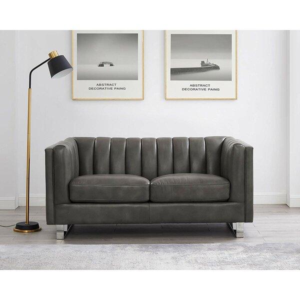 Walbourne Leather Loveseat By Orren Ellis