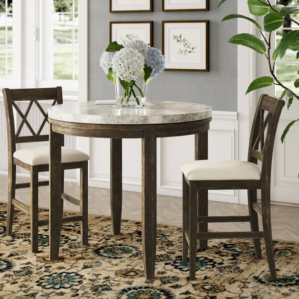 Clearmont 3 Piece Dining Set by Three Posts