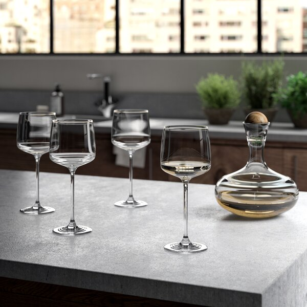 Steffen Lead Free Crystal 16 oz. Wine Glass (Set of 4) by Greyleigh