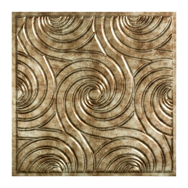 Typhoon 2 ft. x 2 ft. Drop-In Ceiling Tile in Bermuda Bronze by Fasade