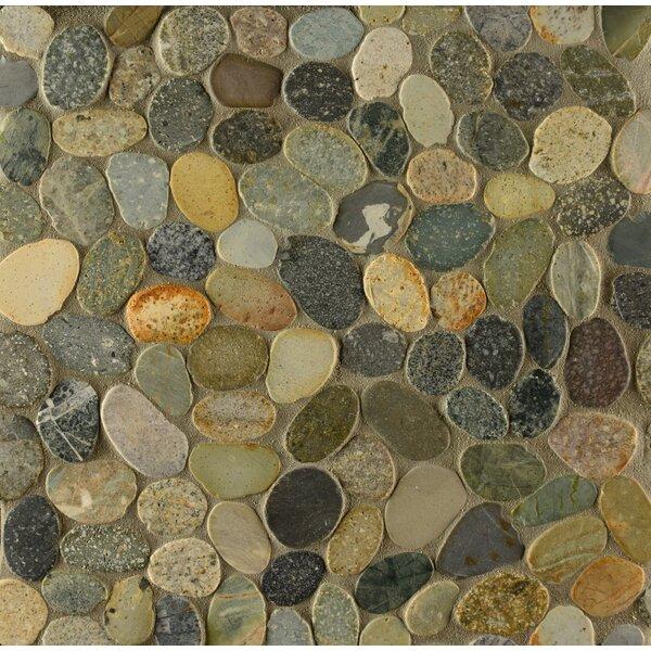 Pebble Rock Random Sized Stone Pebble Tile in Matahari by Grayson Martin