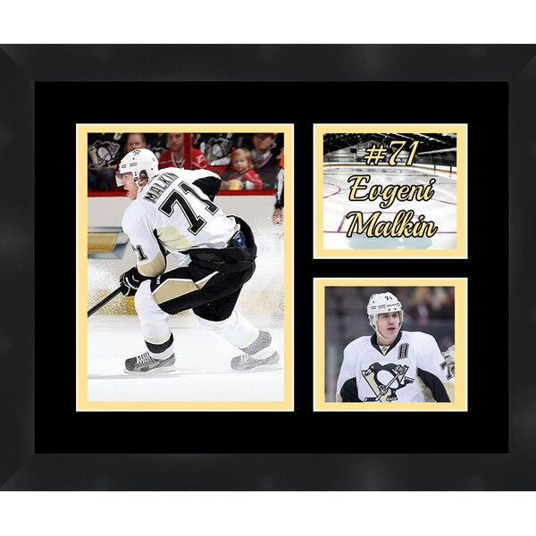 Pittsburgh Penguins Evgeni Malkin 7 Photo Collage Framed Photographic Print by Frames By Mail