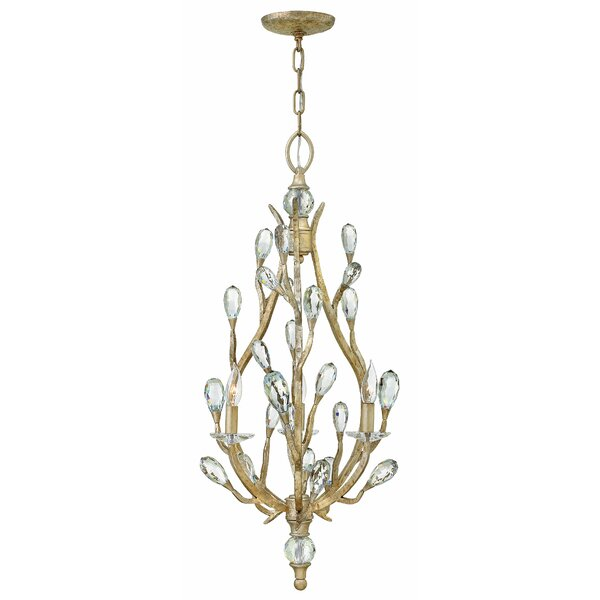 Diandre 3-Light Candle Style Geometric Chandelier By Hinkley