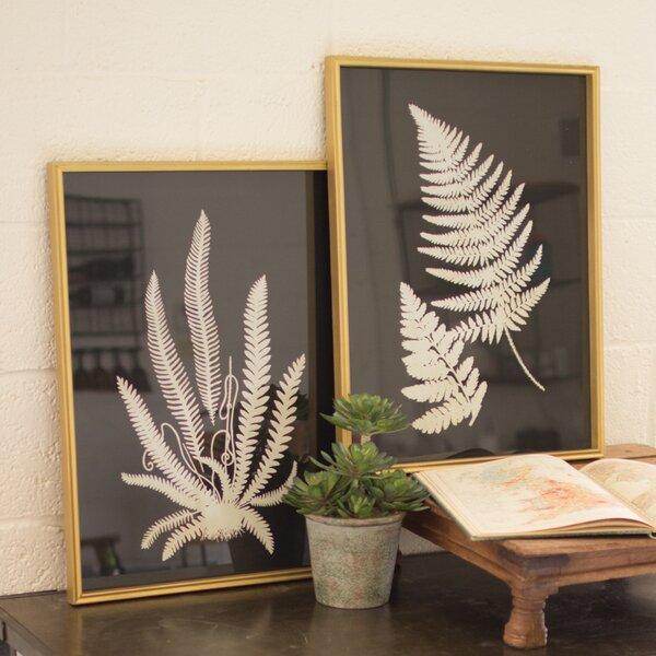 Framed Inverted Fern Silhouette Prints (Set of 2) by Birch Lane™