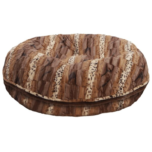Bagel wild Kingdom Bolster Dog Bed by Bessie and Barnie