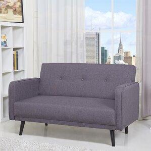 zelmo loveseat - Grey Tufted Sofa