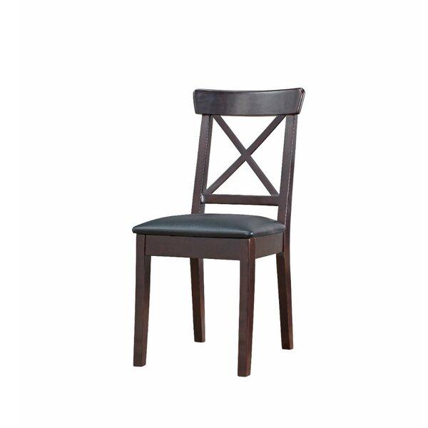 Review Celentano Upholstered Solid Wood Slat Back Side Chair (Set Of 2)