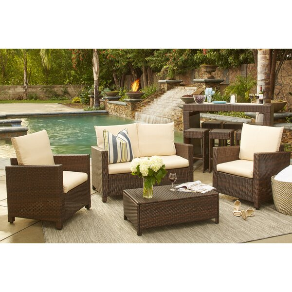 Belva 4 Piece Rattan Sofa Set: ﹁Best Range Of﹂ Kiana 7 Piece Sectional Seating Group With