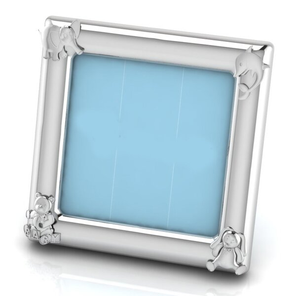 Farragut Sterling Silver Animal Square Picture Frame by Harriet Bee