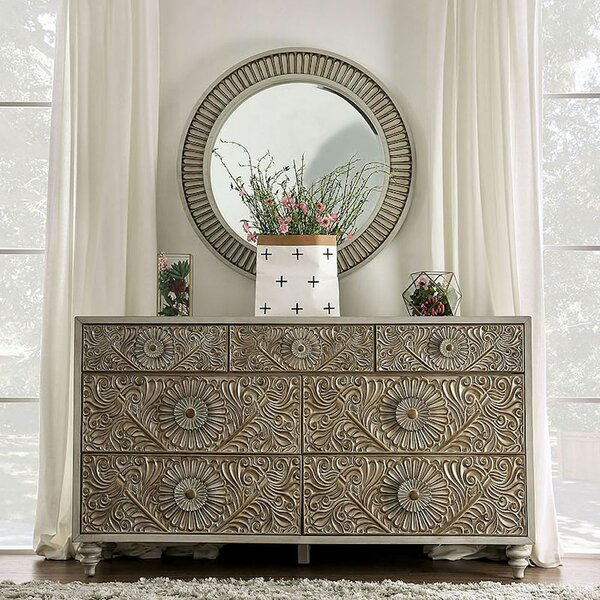 Wauwatosa 7 Drawer Dresser with Mirror by Ophelia & Co.