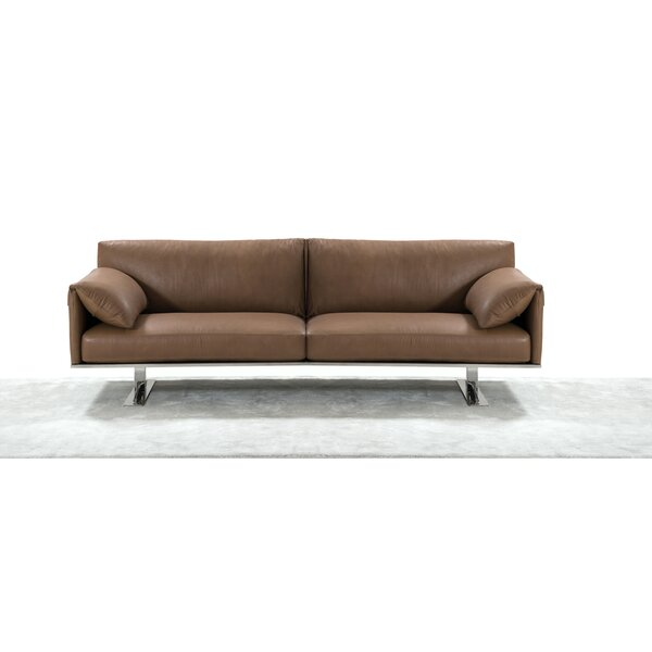 Fuente Italian Leather Sofa By Orren Ellis