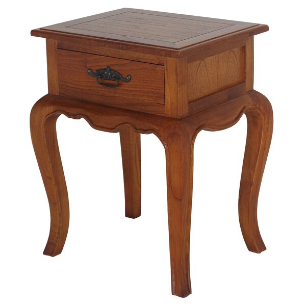 Karlee Fine Handcrafted Solid Mahogany Wood Nightstand By One Allium Way