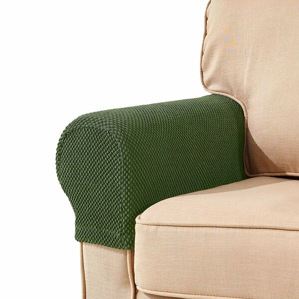Armrest Jacquard Armchair Slipcover (Set Of 2) By Symple Stuff