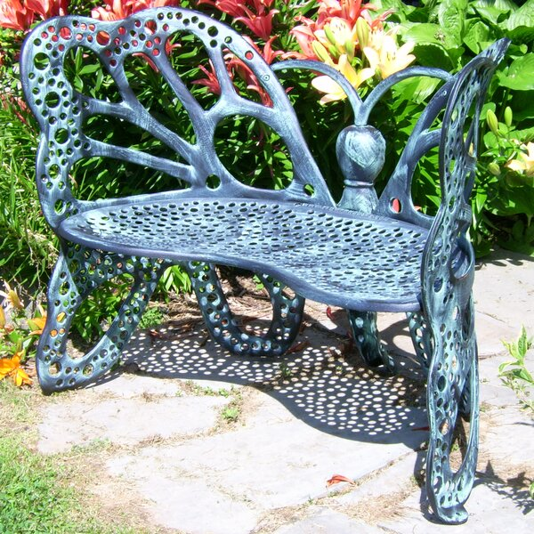 Butterfly Aluminum Garden Bench by Flowerhouse