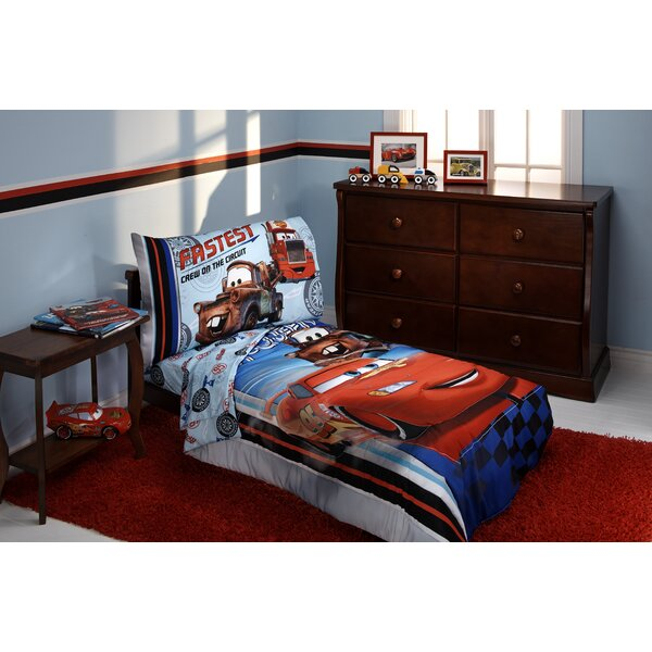 Fastest Team 4 Piece Cars Toddler Bedding Set by Disney
