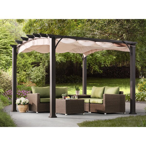 Arched 10 Ft. W x 10 Ft. D Metal Pergola by Sunjoy