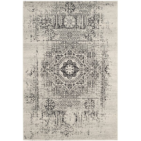 Baldwin Park Power Loomed Ivory/Black Area Rug by Trent Austin Design
