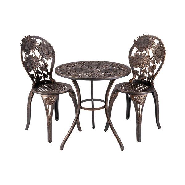 Coleman 3 Piece Bistro Set by Rosalind Wheeler