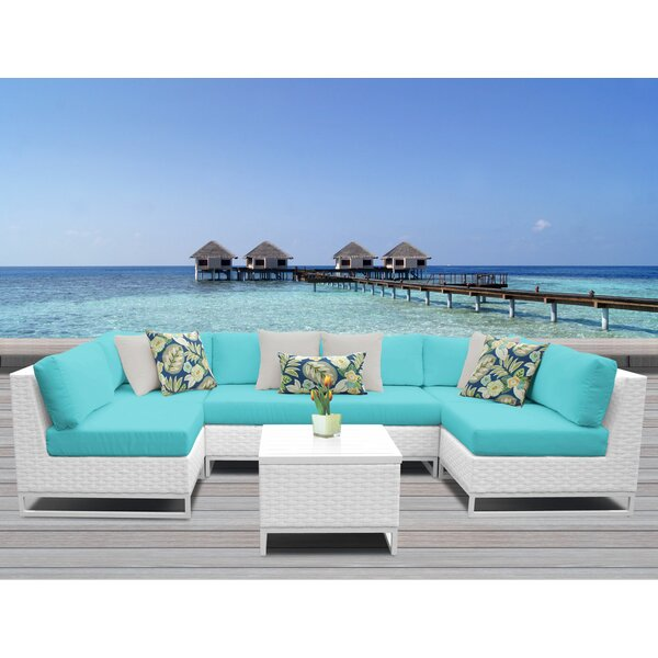 Miami 7 Piece Sectional Seating Group with Cushions by TK Classics