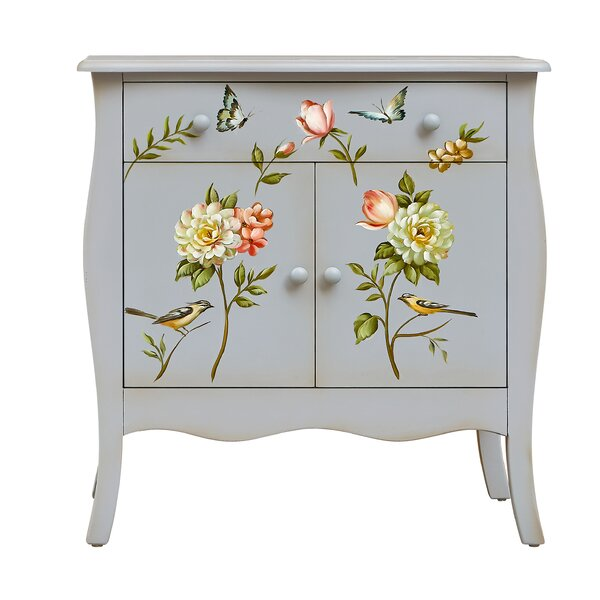 Sanger Hand-Painted 1 Drawer Accent Cabinet by August Grove August Grove
