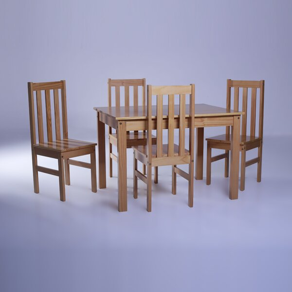Willeford Complete 5 Piece Solid Wood Dining Set by Red Barrel Studio Red Barrel Studio